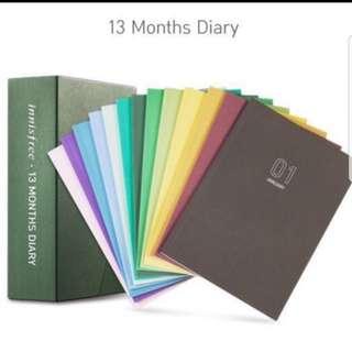 innisfree 13months diary/ organiser