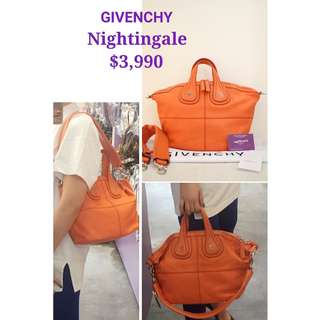 99% New GIVENCHY Nightingale 橙色 山羊皮 肩背袋 手提袋 手袋 Orange Goat Handbag