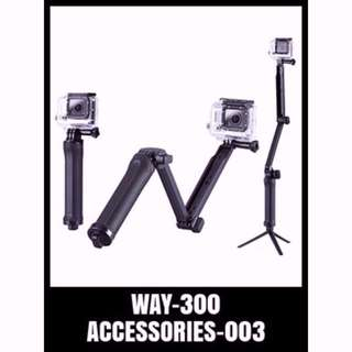 WAY-300 MONOPOD Gopro 3-Way Monopod Grip Arm