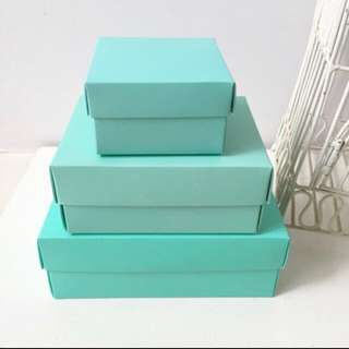 DIY Tiffany blue big Favor Wedding Box // Wedding Favor Box // Packaging Box - come unassembled