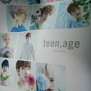 SEVENTEEN TEEN AGE ALBUM white version poster