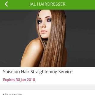 RRP $300 Shisedo Hair Straightening
