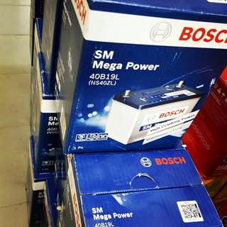 Bosch car battery 40B19L MYVI, VIVA