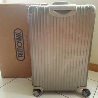 RIMOWA 鋁鎂合金Topas Titanium 920.73.03.4 全新鈦金色30吋大型四輪旅行箱