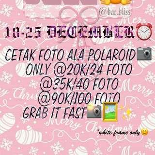 CETAK FOTO ALA POLAROID 1000-ANN!