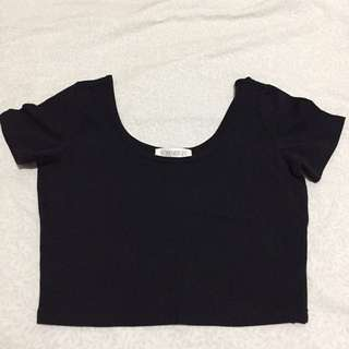 Forever21 Cropped Top (Black)