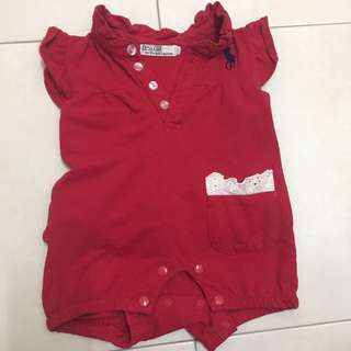 red polo romper
