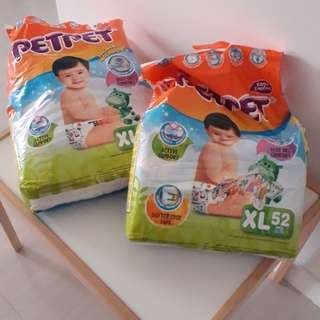 PetPet XL unused diapers.