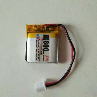 Lithium Battery 600amh 3.7v 30 x 25 x 5mm