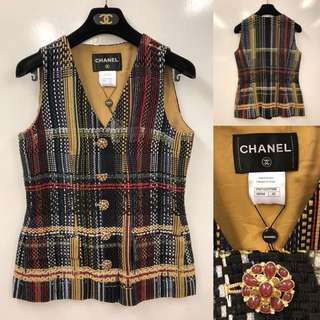 Chanel colors vest cardigan size 40