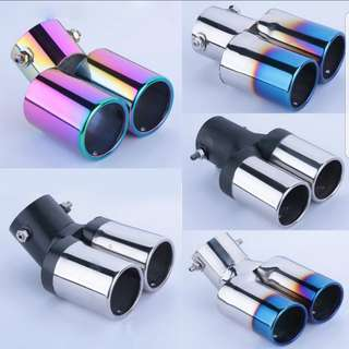 Universal Car Vehicle Exhaust Muffler Steel Tail Pipe