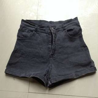Highwaist short (black)