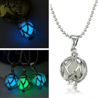 Vintage Steampunk Magic Round Fairy Glow In The Dark Luminous Pendant Necklace