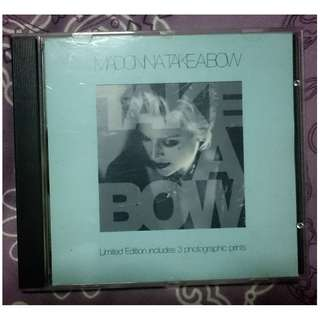 Madonna - Limited Edition Take A Bow CD Single with Photographic Prints