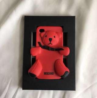 Original Moschino Red Teddy Bear Case