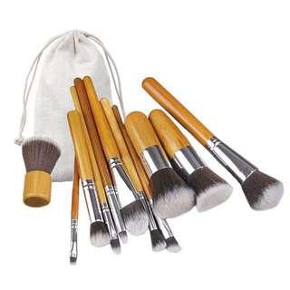 (PO) Bamboo Makeup Brush Set 003