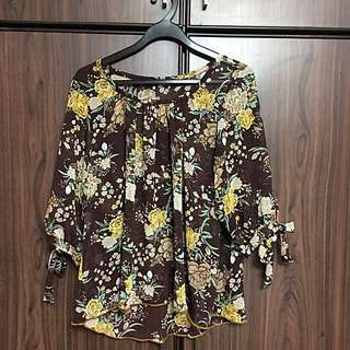 Chiffon blouse, tops, blouse, floral top
