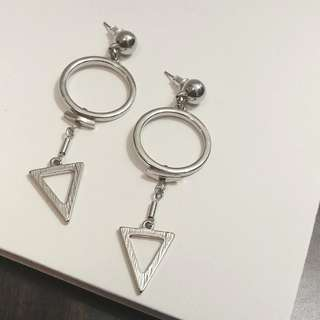 F21 Geometric Drop Earrings