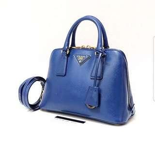 Prada BL0838 Saffiano Vernic Azzuro Blue 2013