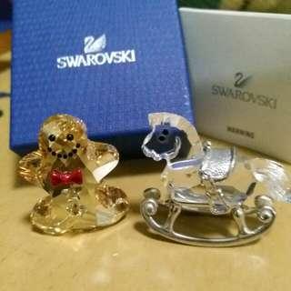 Swarovski 擺設兩件