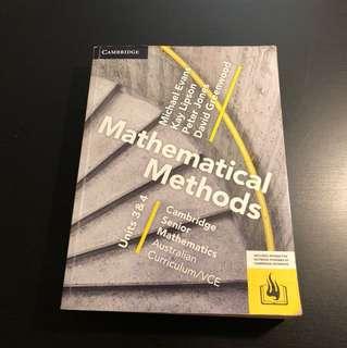 VCE Maths Methods 3/4 Textbook