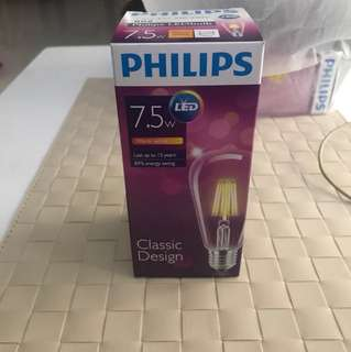 philips 7.5w LED light classic light warm light