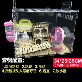Clear Acrylic Hamster Cage