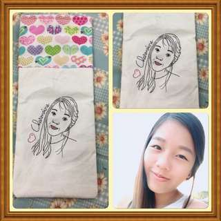 Customized hand embroidery portrait design pillow case, cushion cover, etc