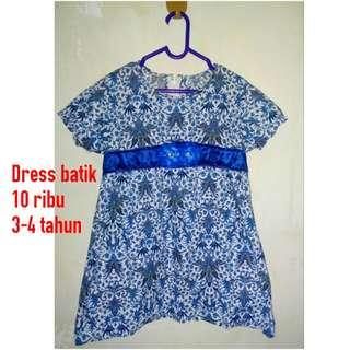 Dress Batik Size 3-4 Year