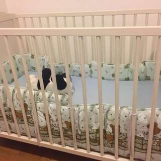 Baby cot and matress from IKEA