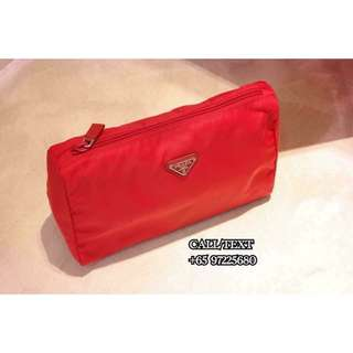 Prada 1N0012 Pouch Large Rosso 7a27756342707