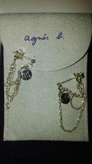 agnes b silver earrings