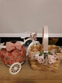 (Promotion! Free charm to be added) Assorted Baskets - Romance Collection
