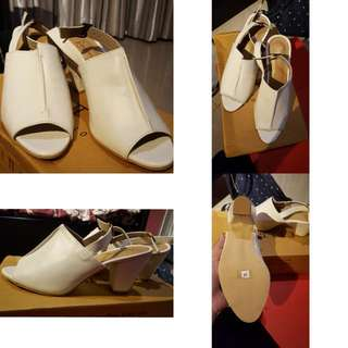 zenna heels white size 38 by selittoes