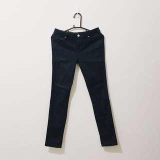 ZARA 特級彈性長褲 M 牛仔藍色
