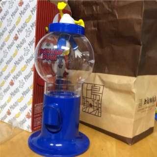 🚚 降↘🔴 日本帶回🔴 Disney 日本正版 迪士尼 跳水唐老鴨 糖果機 扭蛋機 造型糖果罐 收納 公仔糖果機 擺飾 禮品 wow