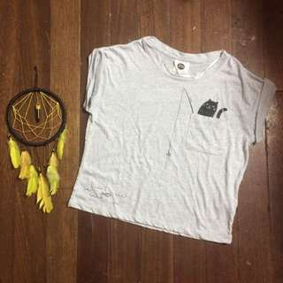 Cotton On Gray Crop Top
