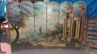 全新出口歐州雙面真人油畫平風 長约8尺x高约5尺(全新前後雙面平風油畫) 畫功大師级,绝版收藏, 特價$900.屯門.