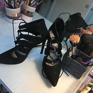 Black Montana Heels Size 8