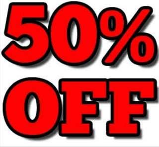50% ALL Preloved items