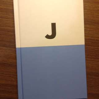"Kate Spade Gold ""J"" Monogram Blue Notebook Hardcover"