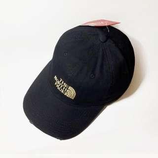 日本正版THE North Face Original logo Cap經典金色電繡LOGO黑色老帽全新Outlet特價
