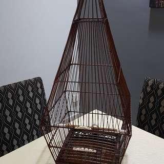17 Sticks Hand Carved Jambul Bird Cage