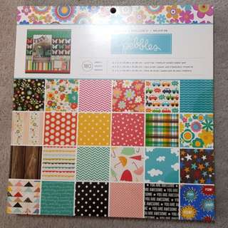 Scrapbook Paper 180 pcs pebbles