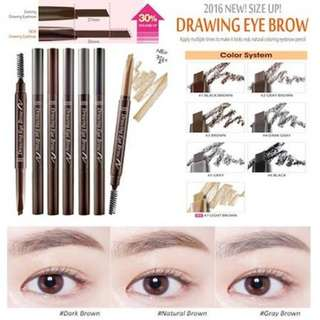 Etude House Drawing Eyebrow Pencil ★ Eye Brow Duo ★ Eye Liner ★ Brow Fixer ★ Drawing Eye Brow