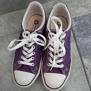 Purple Converse Sneakers