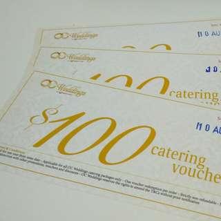 Orange Clove (OC) Weddings $100 Catering Package Voucher x3