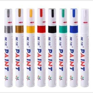 Paint marker for tyres tire tread