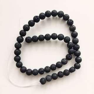 8mm black Lava Stone Beads - Essential Oil Diffuser Jewelry