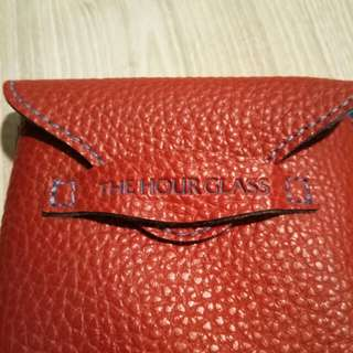 Leather pouch for watch